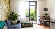 Overzicht groene appartement