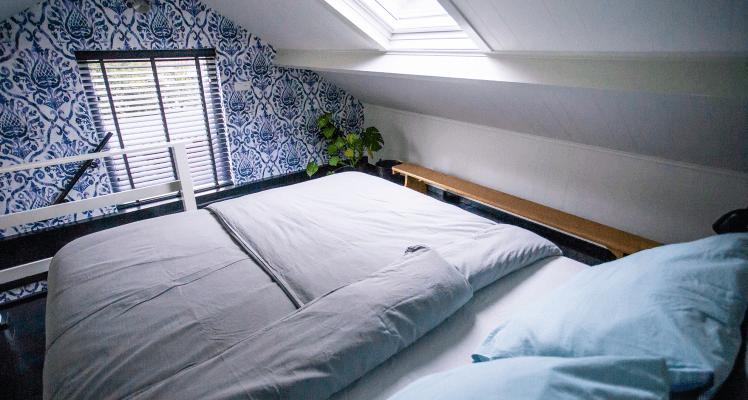 Slaapkamer Blauw appartement